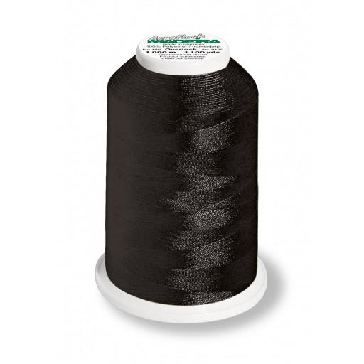 Cône de fil mousse madeira aeroflock 100% polyester 1000 m - 8000 noir