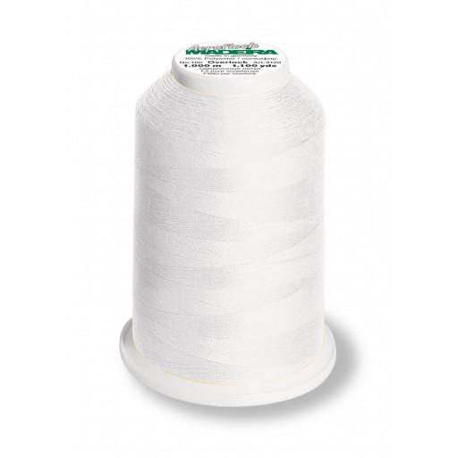 Cône de fil mousse madeira aeroflock 100% polyester 1000 m - 8010 blanc