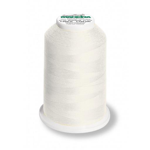 Cône de fil mousse madeira aeroflock 100% polyester 1000 m - 8020 blanc naturel