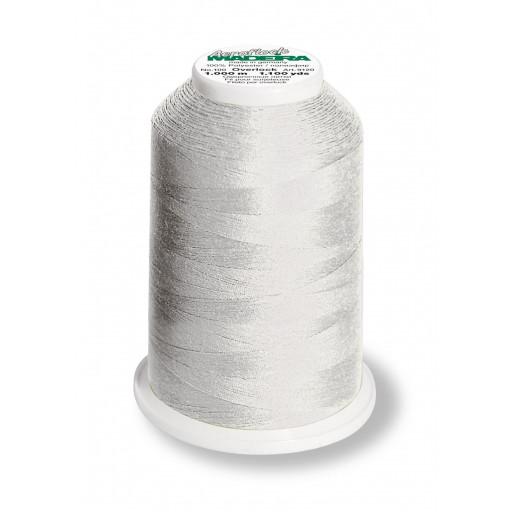 Cône de fil mousse madeira aeroflock 100% polyester 1000 m - 8100 gris perle