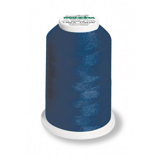 Cône de fil mousse madeira aeroflock 100% polyester 1000 m - 8420 bleu marine