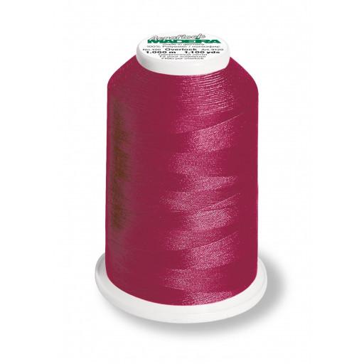 Cône de fil mousse madeira aeroflock 100% polyester 1000 m - 8785 bordeaux