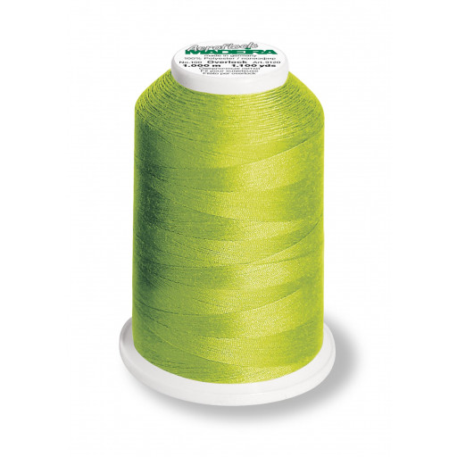 Cône de fil mousse madeira aeroflock 100% polyester 1000 m - 8990 vert pomme