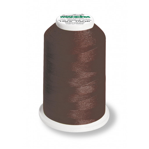 Cône de fil mousse madeira aeroflock 100% polyester 1000 m - 9290 chocolat