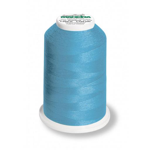 Cône de fil mousse madeira aeroflock 100% polyester 1000 m - 9892 turquoise
