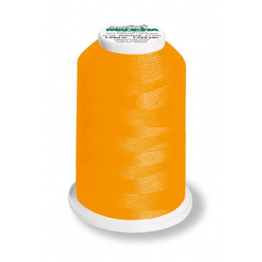 Cône de fil mousse madeira aeroflock 100% polyester 1000 m - 9937 orange néon