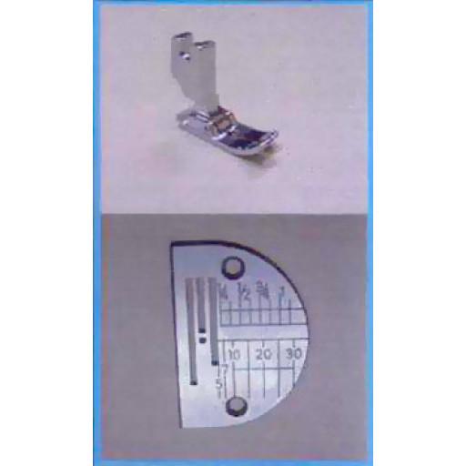 Pied et plaque à aiguille pour couture droite Janome 1600P
