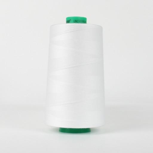 Cône de fil à coudre ackermann 5000 m couleur nr. 0700 blanc made in europe