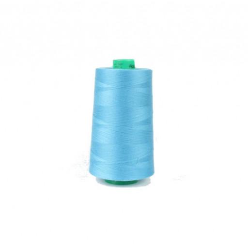 Cône de fil à coudre ackermann 5000 m couleur nr. 7321 bleu moyen made in europe