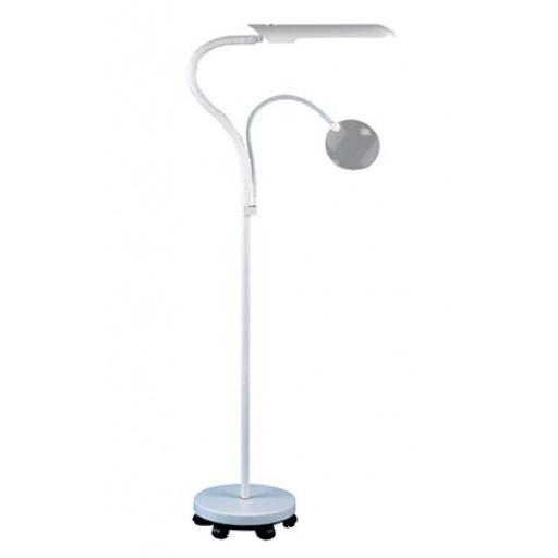 Lampe daylight sur pied à roulettes E23030 Blanc