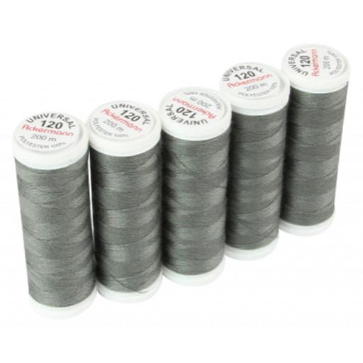 1 Bobine de Fil à coudre gris foncé couleur 0839 - 200m - Ackermann