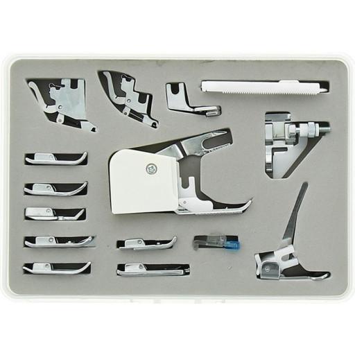 Coffret de 15 pieds/accessoires pour machine à coudre DORINA - SINGER - AEG - TOYOTA - PFAFF ELEMENT, HUSQVARNA VIKING