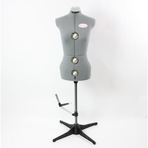 ACKERMANN Mannequin gris taille S réglable 34-40