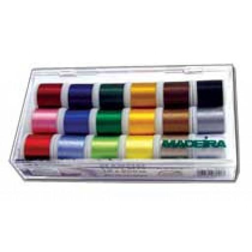 Coffret de fils à broder 18 coloris Madeira