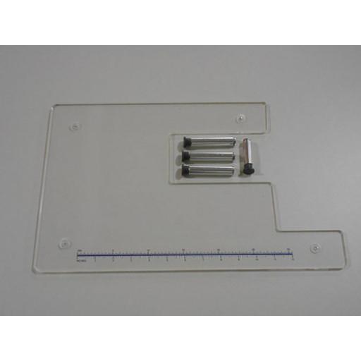Table d'extension en plexiglas 44 x 27 cm  pour JUKI HZL-70HW-B HZL-80HP-B-HZL-HD197-SILVER 8000E