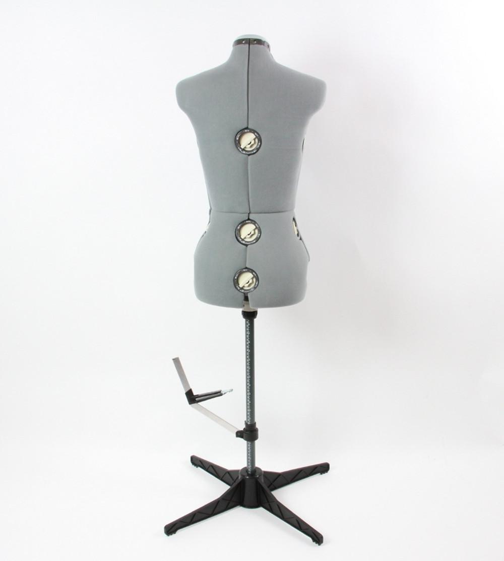 Ackermann Mannequin Gris Taille L Réglable 42 48 En Stock Maison De La Machine à Coudre Et à Repasser