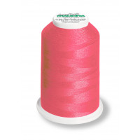 Cône de fil mousse madeira aeroflock 100% polyester 1000 m - 9907 rose néon