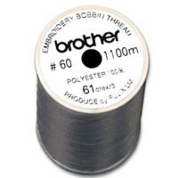 Bobine fil canette broderie épaisseur 60 - 1100m Noir