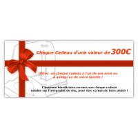Chèque cadeau 300€