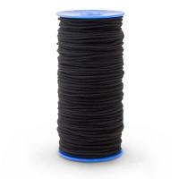 Élastique 5mm - Noir - 2m