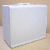 Coffre de rangement rigide avec poignée de transport pour machine à coudre