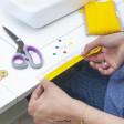 Meuble de couture pour machine à coudre et surjeteuse | Couleur Blanc / Teck