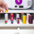 Meuble de couture pour machine à coudre et surjeteuse | Couleur Chêne clair