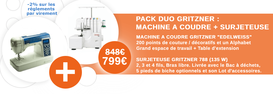 Pack Duo Gritzner : Edelweiss + 788