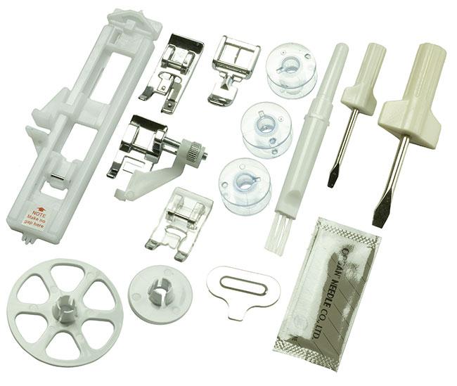 Accessoires fournis avec la machine à coudre Edelweiss